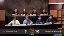 Monroe Middle School and triumph Academy quiz bowl 2015 8th grade